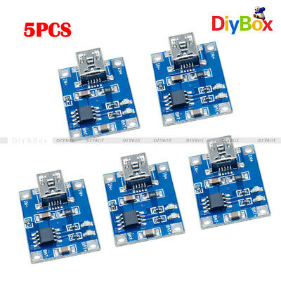 5PCS 18650  5V Mini USB 1A Lithium Battery Charging Board Charger Module