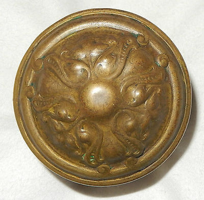 Vintage Solid Brass Victorian Ornate Door Knob