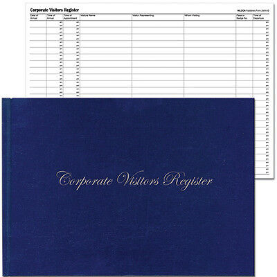 WILDON◉WIL250◉CORPORATE VISITORS REGISTER◉300mm x 215mm◉RECORD BOOK◉HOTEL OFFICE