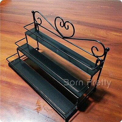 1Pc 3-layer Nail Polish Perfume Display Rack Cosmetics Decoration Storage Stand