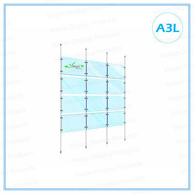 Cable Display Systems, Acrylic Cable Kits, window display for Real Estate,12xA3L