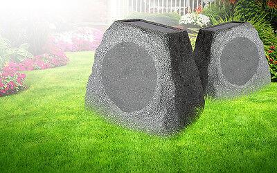 NEW ION Solar Stone Water Resistant Bluetooth Outdoor Wireless Patio 1 Speaker