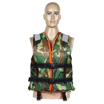 New Adult Boating Swimming Life Jacket Vest Polyester Floating Foam with Whistle