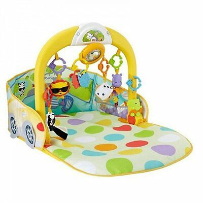 Fisher-Price 3-in1 Convertible BABY CAR GYM, 8 Movable Activity Toy BABY PLAYMAT