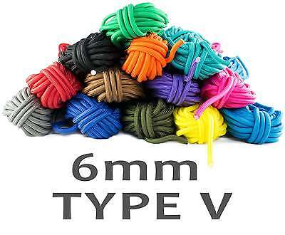 6mm Paracord TYPE V 1250lbs Bruchlast ca. 566KG 6 dicke Kerne 30m 15m 10m 5m