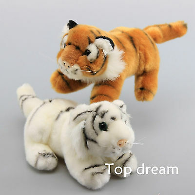 White Yellow Artificial Baby Tiger Soft Cuddly Plush Toy Stuffed Animal Doll Kid