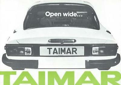 TVR Taimar Fold Out Brochure In Mint Condition 1976 Incl Taimar & Taimar Turbo