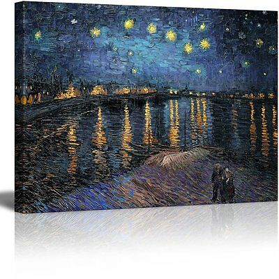 """Wall26 Canvas Wall Art Prints- Starry Night over The Rhone by Van Gogh - 24""""x32"""""""