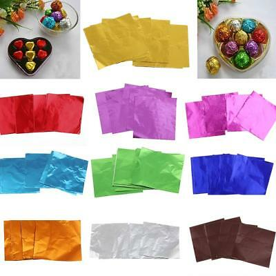 100pcs Square Foil Wrappers Package for Sweets Candy Chocolate Lolly DIY Craft