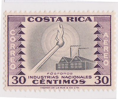 (CRA-385) 1954 Costa Rica 30c lilac air national industries Matches