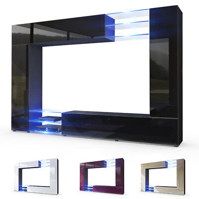 Display furniture set high gloss fronts modern tv unit Living room furniture wall units