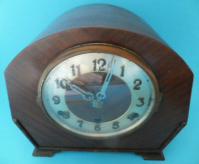 Art Deco German Mantle Clock Westminster Chimes Werttenberg