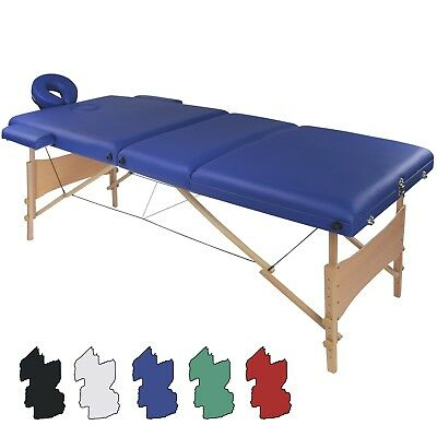 Portable 3-section Massage Table VITALITY in many Colours with Carrier Bag