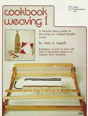 Cookbook Weaving 1 Amy S. Spell Vintage Pattern Loom Project Book NEW 1977