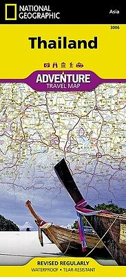 Thailand Adventure Travel Map National Geographic Waterproof