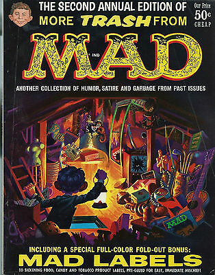 Rare The Second Annual Edition Of More Trash From Mad With Bonus Mad Labels