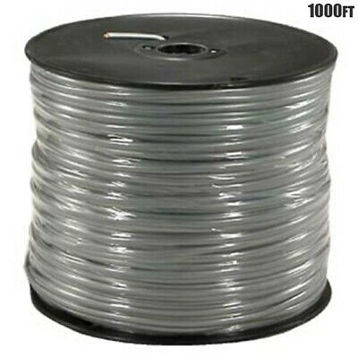 1000Ft 28AWG Standard 4 Conductor CCA Silver Satin Modular Cable Wire Cord