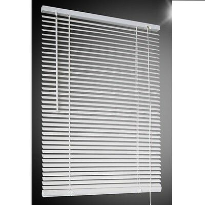 Venetian Window Blind White Blinds Pvc Bedroom Home Office Strong Long Drop New