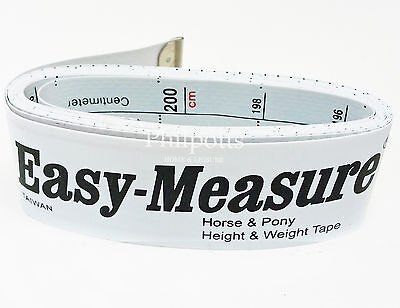 Easy Measure Horse & Pony Weigh Tape - Height & Weight measuring band FREE POST