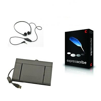 Olympus Transcription Foot Pedal Bundle: Pedal, Headset + Software!