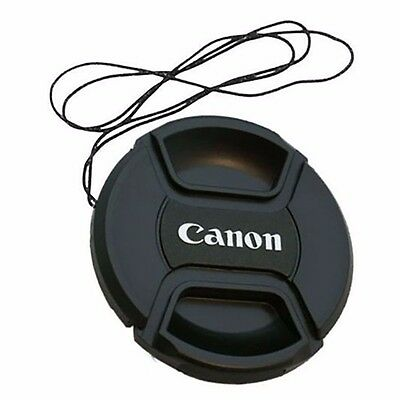 58 mm Snap On Front Lens Cap Cover Center Pinch with String for Canon EOS Camera