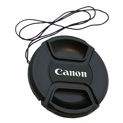 52 mm Snap On Front Lens Cap Cover Center Pinch with String for Canon EOS Camera