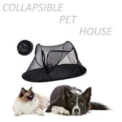 Portable Cat & DOG Pet Dome Collapsible Shading Tent Outdoor Foldable Pet House • EUR 35,62