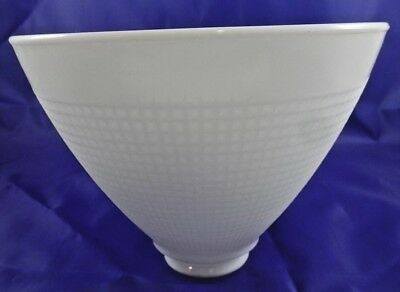 "Vintage Milk Glass Lamp Shade Waffle Texture 2 1/8"" Fitter Torchiere Floor Lamp"
