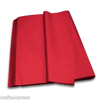 RED Coloured Tissue Paper Acid Free Sheets 750mm x 500mm