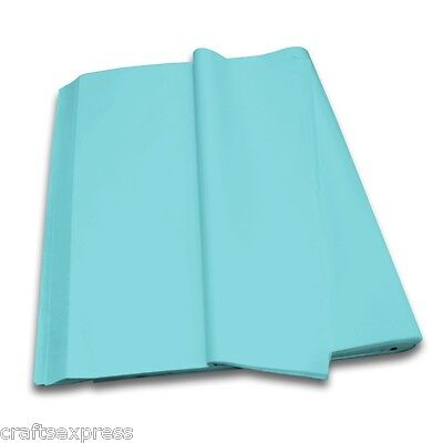 BABY BLUE Coloured Tissue Paper Acid Free Sheets 750mm x 500mm