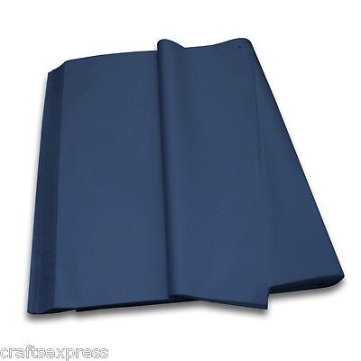 DARK BLUE Coloured Tissue Paper Acid Free Sheets 750mm x 500mm