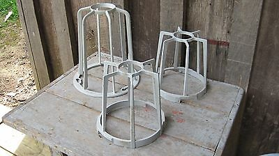 3 Vintage Appleton Explosion Proof Light Fixture Fitting Cages Replacement Parts