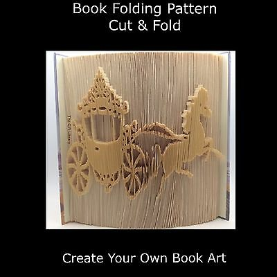 Book Folding Pattern - Cut & Fold - Princess Horse & Carriage 900 Pages