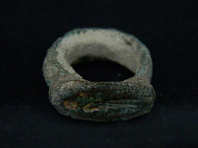 Ancient Bronze Seal Ring Bactrian 300 BC  #BR1566