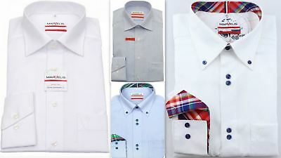 Mens Shirt Marvelis Tall Fit 69cm Sleeve Modern Fit Non Iron Pure Cotton