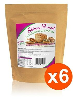 6 Packs of Low Carb White Bread & Roll Mix, High Protein, Dukan, Atkins, Low Fat