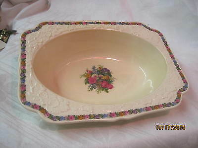 Vtg England Crown Ducal Vegetable Serving Bowl Charm Gainsborough Rd No 749657