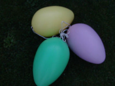 Vntg Large Lighted Easter Eggs Blowmold Multi Color Set Of 3 Your Choice