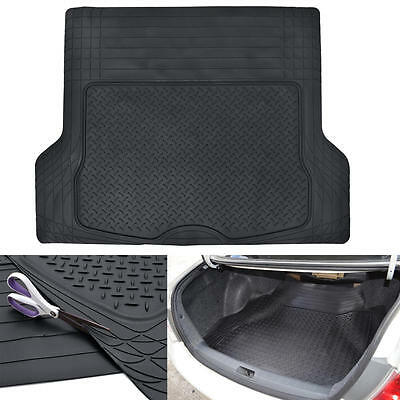 Odor-Free Cargo/Trunk Liner Mat for Car Van SUVs Trimmable Rubber Tough - Black