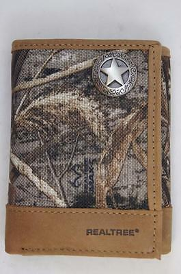 ZEP PRO Western TEXAS STAR Realtree Max-5 Camo  Trifold Wallet Tin Gift Box