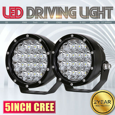 Pair 5inch 160w ROUND NEW LED Driving Work Light Spot Offroad 4WD VS 336W/240W