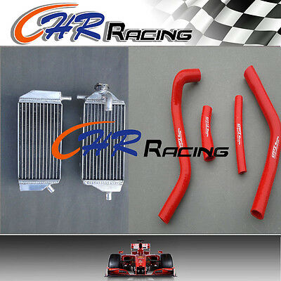 L&R ALUMINUM RADIATOR YAMAHA YZ450F YZF450 YZ 450F 2014 2015 14 15 and red hoses