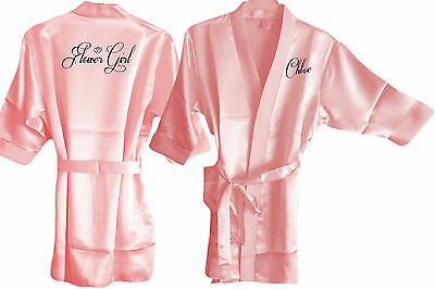 Personalised Childs / Childrens Kimono Wedding Robe/ Robes / Gown - Bride Bridal