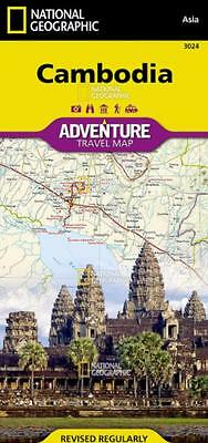 Cambodia Adventure Travel Map National Geographic Waterproof