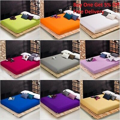 extra deep double size fitted sheet 16 inches 40CM 41CM