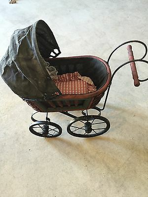 Vtg. Design Wicker / Metal Baby Doll Cariage