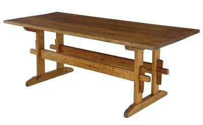 19Th Century Swedish Pine Refectory Table