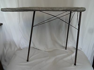 """Vintage Toy Kids Metal Folding Ironing Board Silver Cloth Cover 22"""" T 8"""" W 29"""" L"""