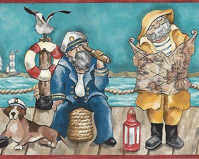 Canada$ -  Comical Fishermen on Dock - 60 feet ONLY $20 - Wallpaper Border A058