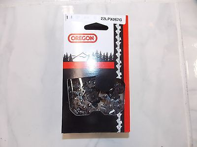 "1 Oregon 22LPX067G 16"" chainsaw chain .325 pitch .063 67 DL L67 replaces 26RS 67"